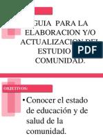 Guia Para La Elaboracion Del Estudio de Comunidad.