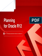 Planning for Oracle r12