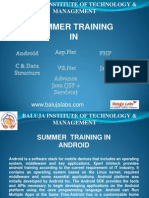 Summer Training Android