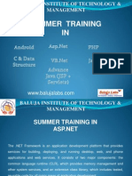 Summer Training_dot Net
