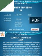 Summer Training JAVA