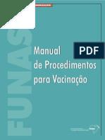 Manual procedimento de vacinação