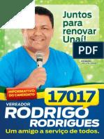 Informativo do Candidato à Vereador Rodrigo Rodrigues - Edição 1