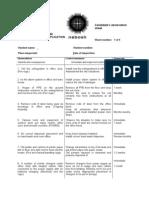 Observation Sheets