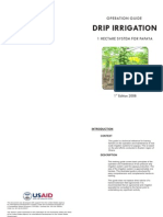 Irrigation Operation Guide 1ha Papaya -19Apr08