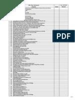 22th Floor Snag List