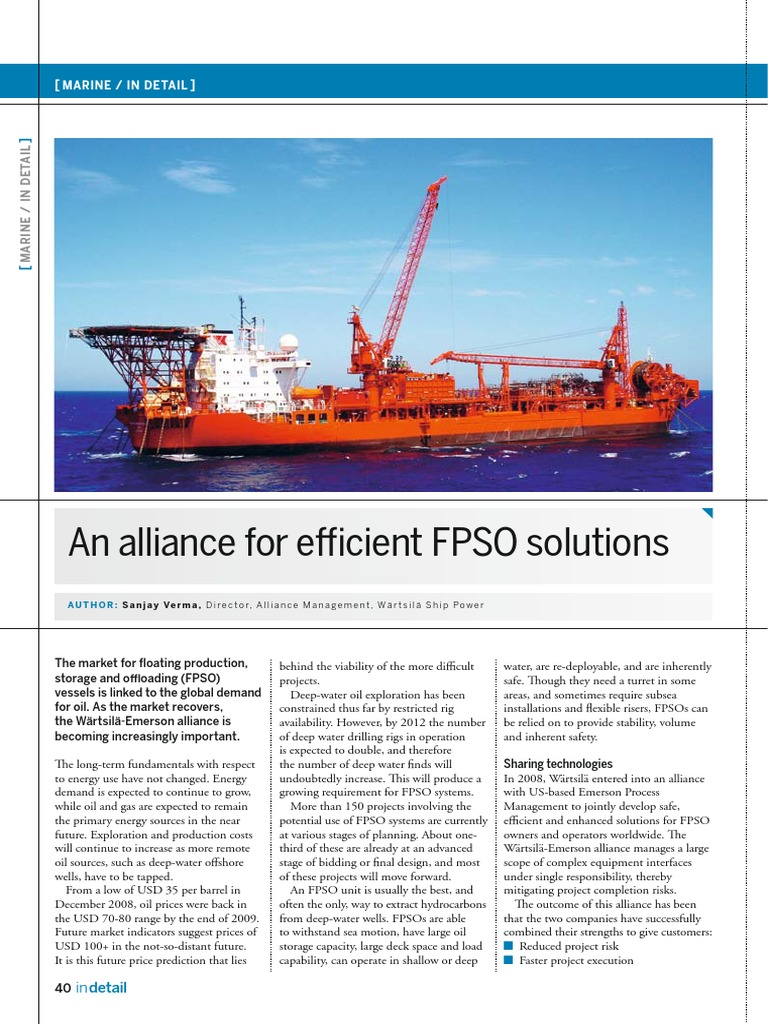 313 951 Alliance Efficient Fpso Solutions | Automation | Project
