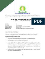 Principal Administrative Officer