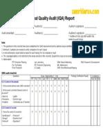 Internal Quality Audit Checklist v. 01