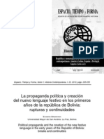 Propaganda Politica Naciniemto de Bolivia BRIDIKINA