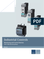 Manual for Monitoring Relays Siemens SIRIUS 3UG4 3RR2