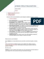 Required Field Validators In ASP.NET