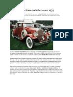 Un coche eléctrico sin baterías en 1934