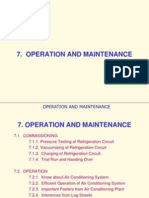 Operation and Maintenance | Air Conditioning | Heat Exchanger