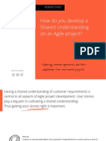 How do you develop a Shared Understanding on an Agile project?