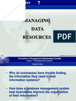 Managing Data Resources Chp 7