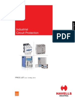 Havells price list   Mains Electricity   Relay on