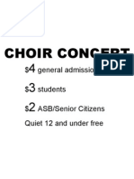 choir concert sign