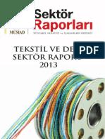 Tekstil Ve Deri Sektor Raporu 2013