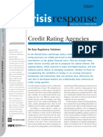 "World Bank Crisis Response (2009) ""Credit Rating Agencies"""