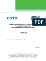 CSTB_Etude Hygro Parois Ossature Bois