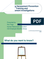 Harassment Training and Investigations