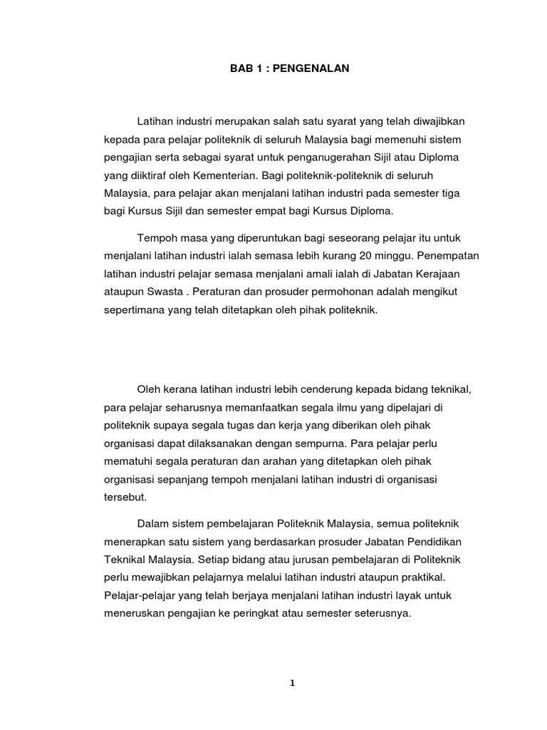 Laporan Akhir Latihan Industri Mohammad Nazirul Bin Zainal Abidin 15dpb11f1034