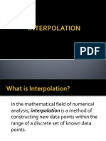Interpolation Lec