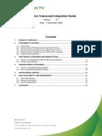 Transcode Integration Guide