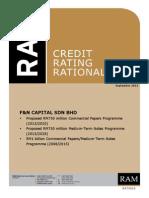 F&N 1.5bil CPMTN - Rating Report