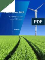 Kpmg Renewable Energy Ma Report