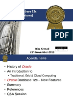 Oracle Database 12c New Features - WKSS - V1