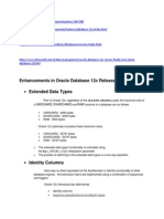 Enhancements in Oracle Database 12c Release 1