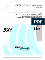 Tr 125913v090000p LTE Key Requirements