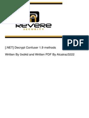 NET] Decrypt Confuser 1 9 Methods   Computing   Technology