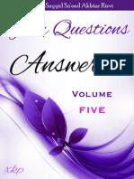 Your Questions Answered Volume 5 - Allamah Sayyid Sa'eed Akhtar Rizvi - XKP
