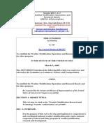 Weath.mod .Act 05 Senate Bill s