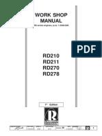 Work Shop Manual RD210