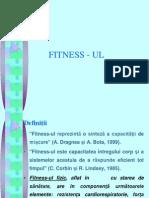 Conditia Fizica - Fitness-ul