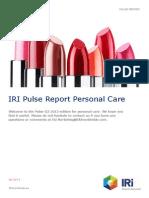 Pulse Report-PersonalCare-Q3-2013