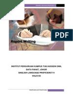 Report Writing WAJ3103