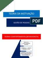 TEORIA DA MOTIVAÇAO E  GESTAO DE PESSOAS