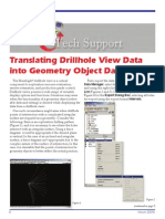 Translating Drillhole View Data
