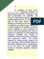 Solubility, Prevod