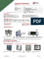 Customer Flow Computer Work Sheet