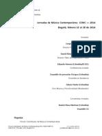 Jornadas de Música Contemporánea  CCMC — 2014 - divulgación