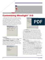 Customizing MineSight® 3-D