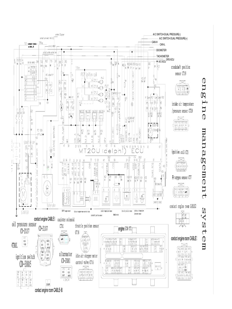 Great Wall MT20U Delphi ECU Wiring Diagram