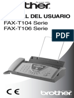 Manual de Instrucciones BROTHER FAX T104 S