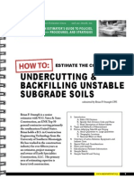 Undercutting and Backfilling